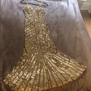Sherri Hill Gold Sequin Gown